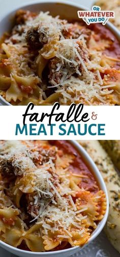 Home Made Doggy Foodstuff FAQ's And Ideas Farfalle And Meat Sauce Is A Super Simple Weeknight Dinner That Anyone Can Make Kid-Friendly, Hearty, And Delicious. Dinner Dishes, Pasta Dishes, Food Dishes, Homemade Caesar Salad Dressing, Homemade Garlic Butter, Meat Sauce, Fry Sauce, Easy Dinner Recipes, Top Recipes