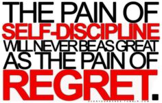 the pain of self discipline #motivation #fitness #healthy #typography