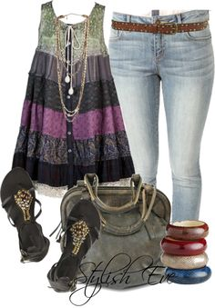 preferably with darker jeans Cute Fashion, Boho Fashion, Autumn Fashion, Fashion Outfits, Womens Fashion, Summer Wear, Spring Summer Fashion, Spring Outfits, Beautiful Outfits
