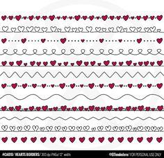 Digital borders Doodle hearts clipart with doodle by eltendedero, Bullet Journal Banner, Bullet Journal Art, Bullet Journal Ideas Pages, Bullet Journal Inspiration, Hand Lettering Envelopes, Hand Lettering Alphabet, Kreis Logo, Doodle Images, Heart Doodle