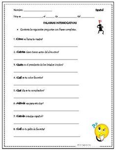 Spanish question words #spanishclasses   Spanish   Pinterest ...