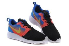 100% authentic f0cdb 30297 Hot Cheap Nike Roshe Run Hyperfuse Blue White Red Yellow Black Women Shoes