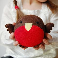 Make Your Own Robin Fattie Toy Kit Sewing Kit by claraandmacy