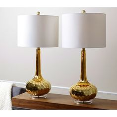 Shop for ABBYSON LIVING Gold Mercury Antiqued Glass Table Lamp (Set of 2). Get free delivery at Overstock.com - Your Online Home Decor Shop! Get 5% in rewards with Club O!