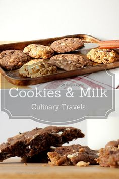 The ultimate in childhood treats ... warm from the oven chocolate chip cookies and a glass of ice cold milk  ... Two cookie recipes here and they're both gluten free. Bonus!