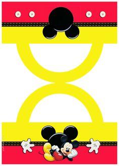 Lindo Mickey: Etiquetas para Bolsas de Golosinas para Imprimir Gratis.