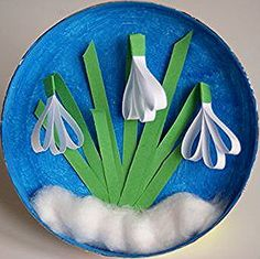 Snowdrops from paper strips Spring artistic and educational works Paper Flowers Craft, Flower Crafts, Preschool Crafts, Easter Crafts, Diy And Crafts, Crafts For Kids, 3d Art, Paper Strips, Flower Doodles