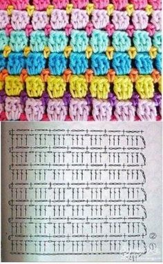 Diy Crafts - Crochet ideas that love Hexagon Crochet Pattern, Crochet Motifs, Crochet Blocks, Crochet Diagram, Crochet Stitches Patterns, Crochet Chart, Crochet Designs, Knitting Patterns, Baby Patterns