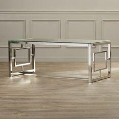 mesas de centro de cristal y acero modernas