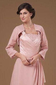 Pink Chiffon 3/4 Length Sleeves Wrap