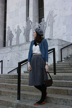 Another way to wear my new grey skirt.