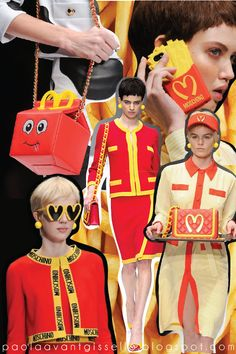 McMoschino: Fast-Food & Fast-Fashion? Moschino, McDonald´s, Milan Fashion Week, Fashion http://paolaavantgisselle.blogspot.com/