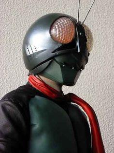 海洋堂仮面ライダー1号を作る Combattler V, Kamen Rider, Riding Helmets, Hero, Comics, Model, Scale Model, Comic Book
