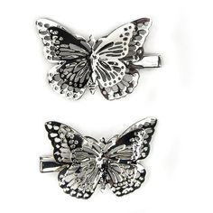 Carole Butterfly Hair Clips (585 RUB) ❤ liked on Polyvore featuring accessories, hair accessories, hair clip accessories, barrette hair clips, butterfly hair accessories and butterfly hair clips
