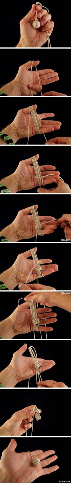 How To Make The Monkey's Fist/Chinese Knot Ball