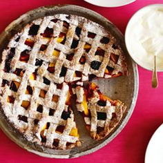 Peach and blackberry walnut pie from Cuisine Magazine, Jan/Feb 2013 by Ginny Grant Eat Dessert First, Pie Dessert, Pie Recipes, Baking Recipes, No Bake Desserts, Delicious Desserts, Walnut Pie, New Zealand Food, Sweet Pie