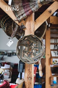 Growing willow on her farm in Co Kildare, Kathleen McCormick has found a fourth career as a skilled basketmaker. Irish Design, Basket Weaving, Career, Interior, Crafts, Handmade, Image, Carrera, Manualidades