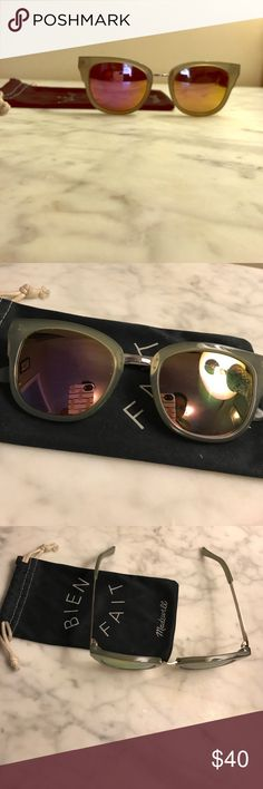 """Madewell """"Playlist"""" 🕶 Sunnies MIRROR LENSE Cutest minty blue frames, with awesome mirror lens. Comes with original sleeve case. Purchased new for $55. No scratches or blemishes! Madewell Accessories Sunglasses"""