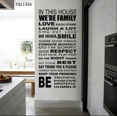 DIY Decor inspirational We are Family In The House Wall Sticker quote Art decal