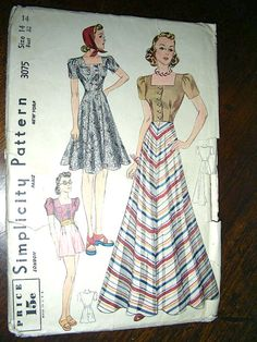 Simplicity 3075 - Bodice, shorts and evening length skirt