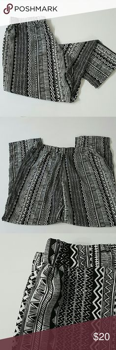 Active U.S.A Palazzo Pants Active U.S.A Straight Leg Palazzo Pants with aztec print. Light flowy and super comfortable with elastic waist band. 28 inch inseam. 100% polyester. Active U.S.A  Pants