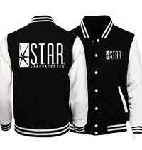 Wish | 2017 Unisex Hoodies Funny STAR Labs Print Streetwear Hip-hop Sweatshirts Men Women Fitness Baseball Jackets