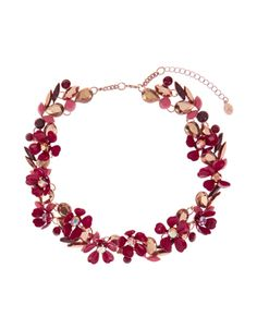 Agnes Floral Statement Necklace | Red | Accessorize
