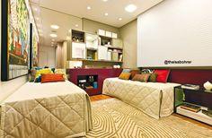 quarto de menina / josé gonçalves / almofadas coloridas / purple / girl / bedroom / apartamento decorado / home decor / bohrer arquitetura / interior design / decoração / showroom / casa / architecture