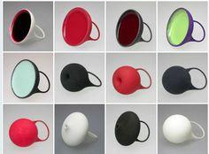 "gal CARACTERE - Ela Bauer rings (""plateau"", ""pomme"", ""boule"" ....) - 160/170 FS - galerie Caractère (CH, Neuchatel) https://www.facebook.com/pages/Galerie-Caract%C3%A8re/281727231870858"