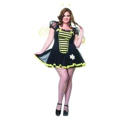 Women's Daisy Bee Costume - (16W/18W), Multi-Colored