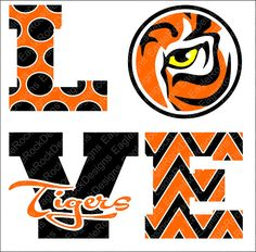 Love Tigers SVG DXF EPS Png Cut File For Cameo and Cricut