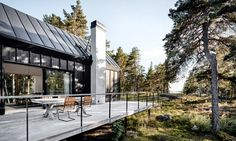 The living space extends to the outdoors.