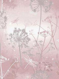 Kitchen Wallpaper, Brick Wallpaper, Paper Wallpaper, Room Wallpaper, Wallpaper Ideas, Pink Wallpaper Design, Blush Pink Wallpaper, Designer Wallpaper, Dandelion Wallpaper