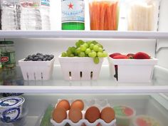 I WISH my fridge looked this good - great organizing tips from Classic Casual Home!