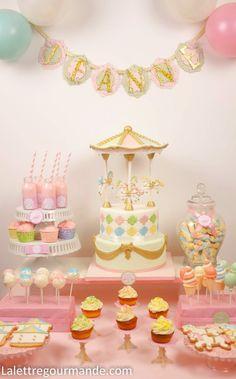 Carousel sweet table