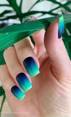 38 sweet & stylish summer nails for 2019 - page 3 of 37 - short acrylic nails coffin - acrylic summer Cute Summer Nails, Cute Nails, Nail Summer, Nail Ideas For Summer, Smart Nails, Fancy Nails, Nails Yellow, Blue Ombre Nails, Cute Acrylic Nails