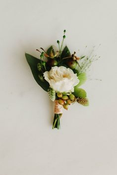 Beautiful boutonniere for spring or summer | Michele M. Waite