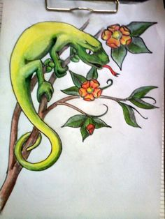 Lizard on branch