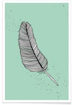 Feather as Premium Poster by Anika Merten | JUNIQE