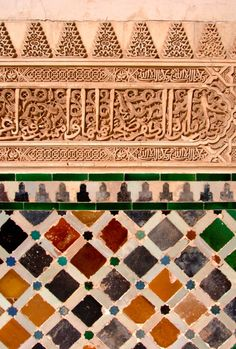 look up these tiles it could be inspiring Azulejos de la Alhambra