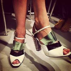 Saskia de Brauw's killer heels @ Fend