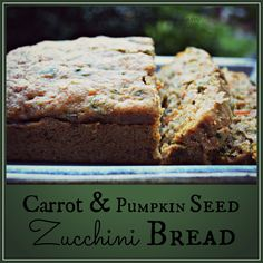 Carrot and Pumpkin Seed Zucchini Bread honeysuckleafternoons.com
