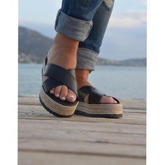 #black #espadrilles #handmade #greek #sandals