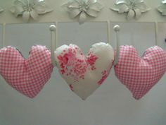 tilda decorative fabric hanging heart by FingerPrickingGood