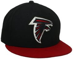 hot sale online 33cb9 e7bf2 NFL Atlanta Falcons Black and Team Color Fitted Cap, Black Red, 7 for Like  the NFL Atlanta Falcons Black and Team Color Fitted Cap, Black Red, 7 Get  it at