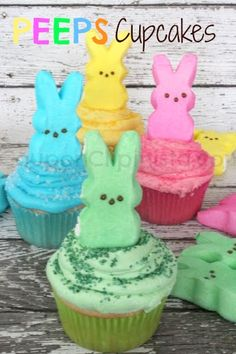 Peeps Cupcakes - This is SO GOOD and EASY!  Make sure you follow: http://www.pinterest.com/cclipinista/