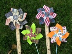 How to make a pinwheel that spins - YouTube