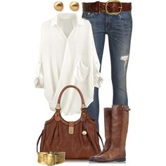 Not crazy bout look of jeans but love clean look of white shirt with jeans