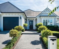 Enjoy villa charm with modern comfort in this beautiful Rangiora new-build Old Garage, Alfresco Area, New Builds, Facade, Building A House, New Homes, Home And Garden, Real Estate, Architecture