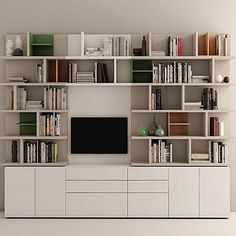 Amazing contemporary 'Caffe' TV Unit. Great bookshelves, solid structure. My Italian Living